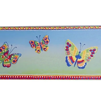 Villeroy & Boch Whimsical Butterfly Ceramic Tile Border 10X30 cm 1459-d283, 20 Ct