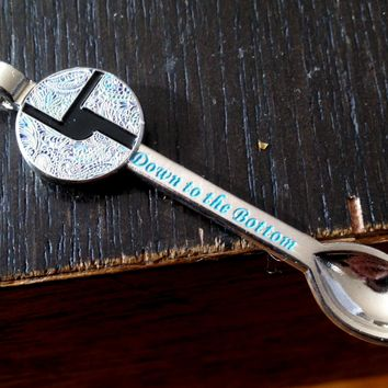 Disco Biscuits Down to the Bottom Silver Ed. Spoon Pendant