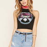 Metallica Graphic Crop Top