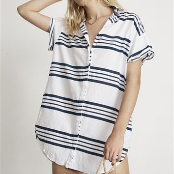 Faithfull The Brand Avalon Shirt Dress in Goa Stripe