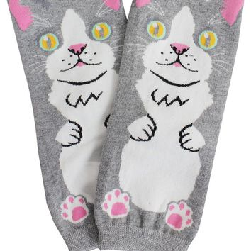 Ladies cat print socks