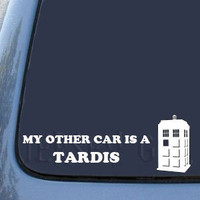 My Other Car is a TARDIS Vinyl Decal by JerseyGirlGraphics on Etsy