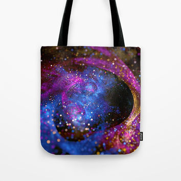 Space Fractal Tote Bag by Oksana