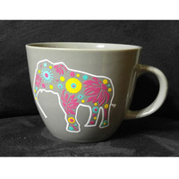Elephant Coffee Mug ~ Customized Mug ~ Mosaic Tribal Paisley ~ Unique gift for coworker, teacher, mom, gifts under 25 for christmas present