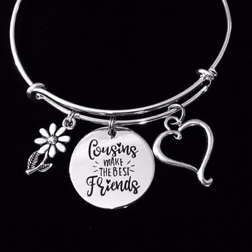 Cousins Makes the Best Friends Adjustable Bracelet Expandable Charm Bracelet Bangle Gift
