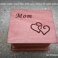 Mom music box, custom music box, music box mom, personalized music box, gift for mom, Mother's day gift, mother of the bride gift, mom gift
