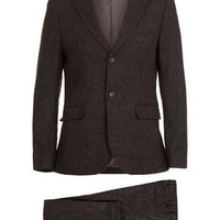 Brown Tweed Herringbone Suit - Tweed Suits - Suits - TOPMAN