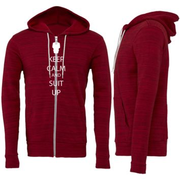 Keep Calm and Suit Up Zipper Hoodie