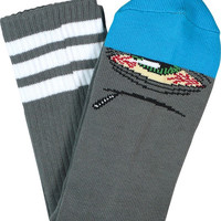 Toy Machine Stoner Sect Crew Socks Grey/Blue Sinle Pair