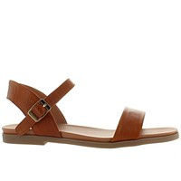 Steve Madden Dina - Tan Leather Sandal