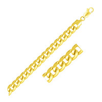 8.0mm 10K Yellow Gold Light Miami Cuban Bracelet