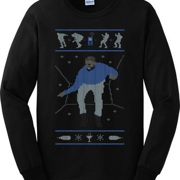 Drake Hotline Bling Ugly Christmas Long Sleeve Shirt Xmas