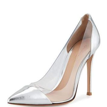 FLASH SALE GIANVITO ROSSI Silver PVC pumps