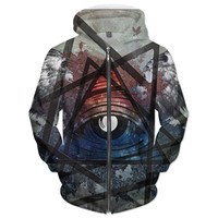 Winged Illuminati Eye Hoodie