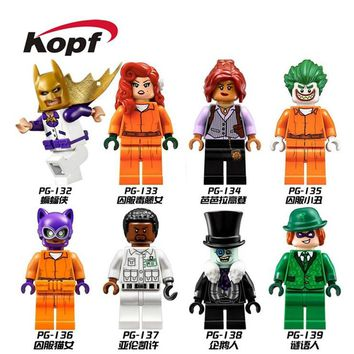 Building Blocks Super Heroes Single Sale Batman Prison Catwoman Joker Aaron Cash Barbara Gordon Riddler Penguin Kids Toys PG8041