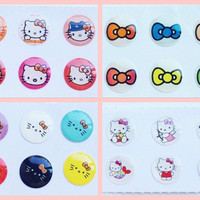 4x Hello Kitty Home Button Sticker Pack Lot for iPhone/iPad/iPod (24pcs) iPhone6 iPhone5 iPhone4