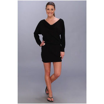 Beyond Yoga Womens Blk 3/4 Dolman Sleeve Mini Black Above The Knee Dress Size XS