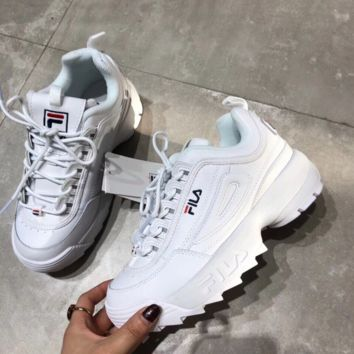 FILA Running Sport Casual Shoes Sneakers White G