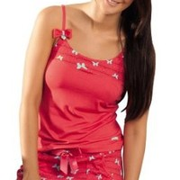 Laura Women's 2 Piece Flying Butterflies Comfy Cherry Pajama Set SL506035