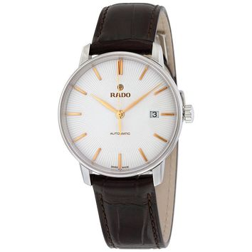 Rado Coupole Classic Silver Dial Black Leather Ladies Watch R22860025