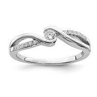 Sterling Silver Round CZ Infinity Inspired Promise Ring