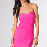 Strapless Sweetheart Pink Dress