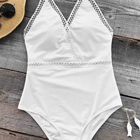 Cupshe Angel's Wings Halter One-piece Swimsuit