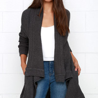 BB Dakota Adana Dark Grey Cardigan Sweater
