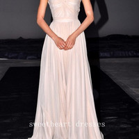 Sweet chiffon chiffon Floor-Length prom dresses