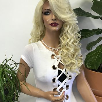 Blond lace front wig - I'm All Eyes 218 9