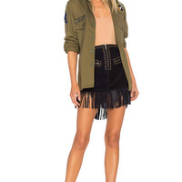 Understated Leather Hold Your Horses Skirt in Ink | REVOLVE
