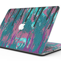 Abstract Retro Pink Wet Paint - MacBook Pro with Retina Display Full-Coverage Skin Kit