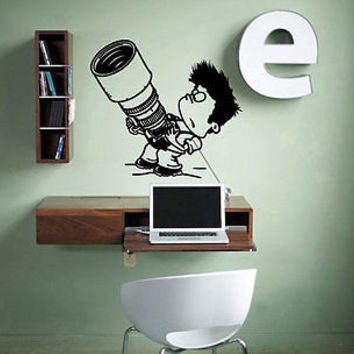 Little Boy with camera Photography Lens Photo Pictures TV  Decor Room tr250