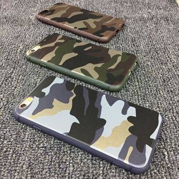 Ultra thin camouflage soft shell mobile phone case for iPhone X 7 7plus 8 8plus iPhone6 6s plus -171124