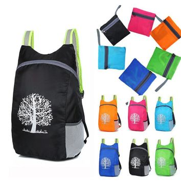 Colorful Packable Waterproof Backpack with Tree Design