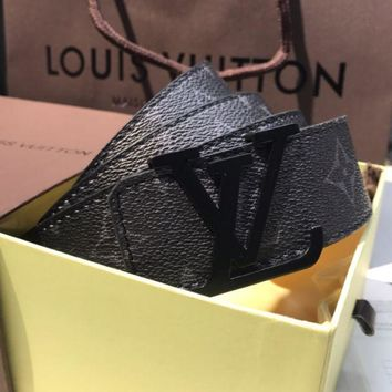 LobangLV Belt with box,receipt,paperbag,dustfreecover/Tali pinggang LV/LV裤带