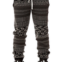 LRG Knit Pants Metrick Jacquard in Black