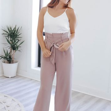 The Boss Babe Jumpsuit - Mauve
