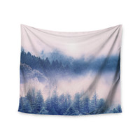 "Viviana Gonzalez ""Pastel Vibes 03"" Blue White Wall Tapestry"