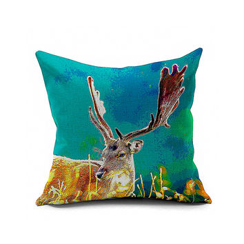Cotton Flax Pillow Cushion Cover Animal   DW137