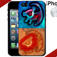 Lion King Simba and Mufasa iPhone Case - iPhone 5 Case or iPhone 4 Case