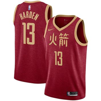 Men's Houston Rockets James Harden Nike Red 2018/19 Swingman Jersey – City Edition - Best Deal Online