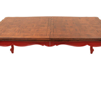Queen  Anne Parquetry Dining Table