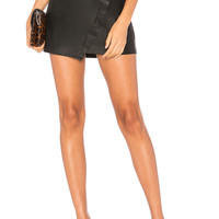 David Lerner Wrap Skirt in Classic Black