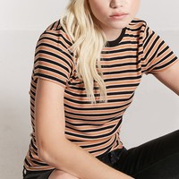 Stripe Ribbed Knit Top