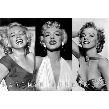 MARILYN MONROE POSTER 3Pictures RARE HOT NEW 24x36