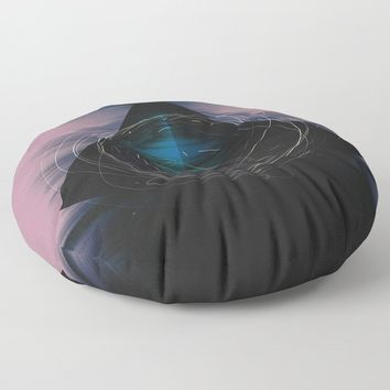 Energy Influx Floor Pillow by duckyb