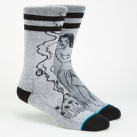Stance Schrader Mix & Match Mens Casual Socks Grey One Size For Men 25855811501