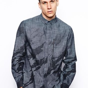 Maharishi Printed Chambray Shirt - Gray