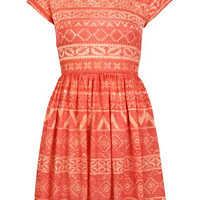 Petites Aztec Jersey Dress - Dresses  - Apparel